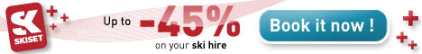 up to 45% off ski hire