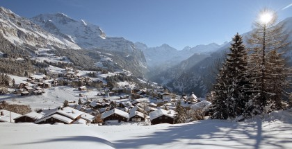 Wengen - location for the celebrated Lauberhorn downhill