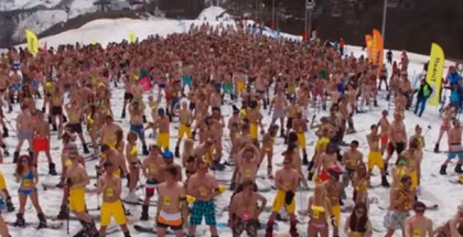 Sochi swimwear ski record1