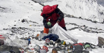rubbish on Everest