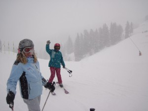 Chatel... goddesses ski in all conditions
