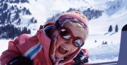 Child on sledge - Adelboden  photoplus.ch/ Photo by Christof Sonderegger