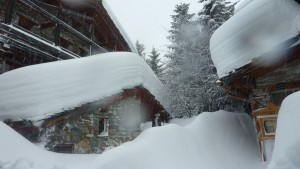 Val d'Isere - closed for action and groaning under the weight of fresh snowfall