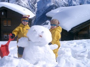 Snow fun at Bettmeralp, Switzerland