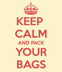 Keep calm and back your bags