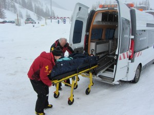 Ambulanced off the piste in Val d'Isere