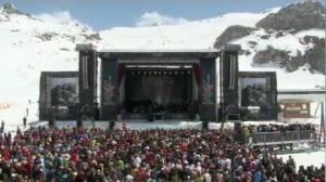 Mariah Carey headlined at Ischgl's Top of the Mountain 2012
