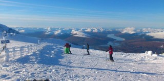 Excellent snow conditions in Scotland