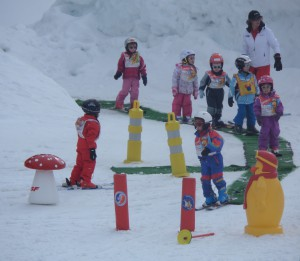 Valmorel's Piou Piou club - popular with young skiers