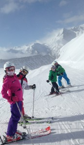Family ski fun in St Lary
