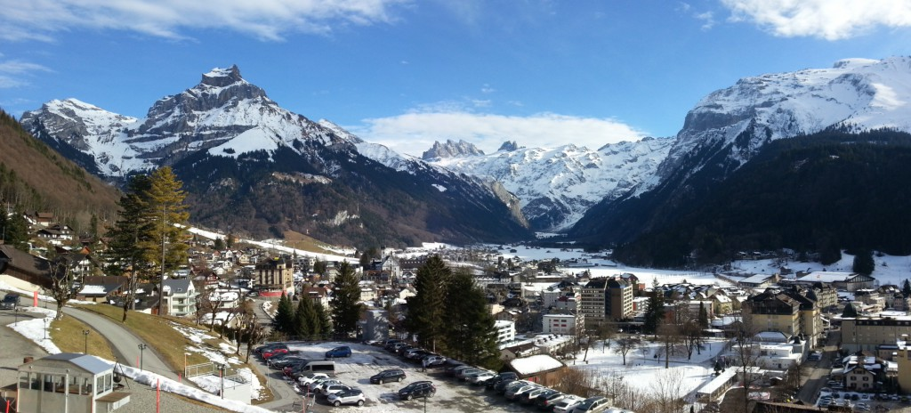View of Engelberg from Hotel Terrace