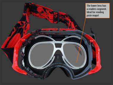 RXSport reading goggles... perfect for all those who need their specs on to read the piste map!