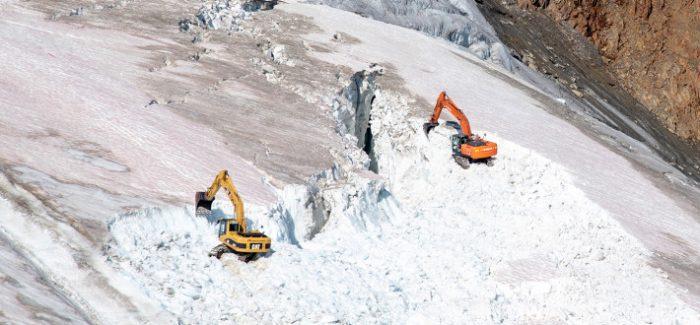 Austria destroys glacier to create ski slopes