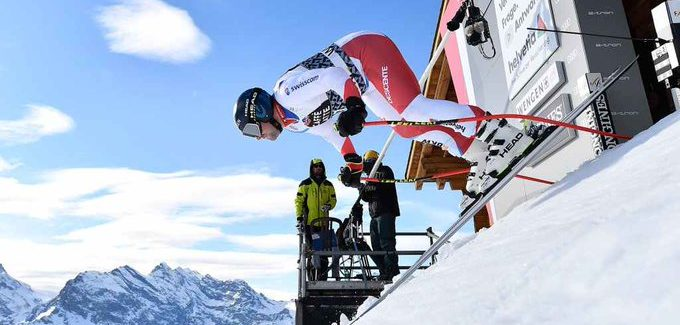Swiss hat trick on the Lauberhorn